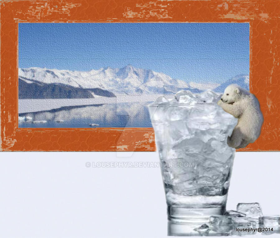 Baby Bears Lost Ice by lousephyr