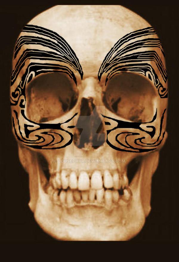 Tattoo Skull.w.i.p. by lousephyr