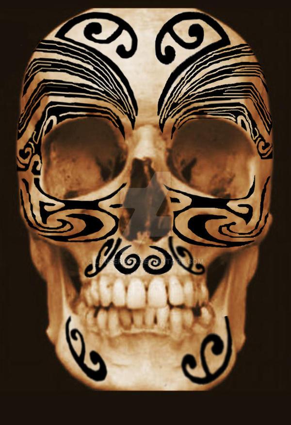 Skull .Tattoos w.i.p. by lousephyr