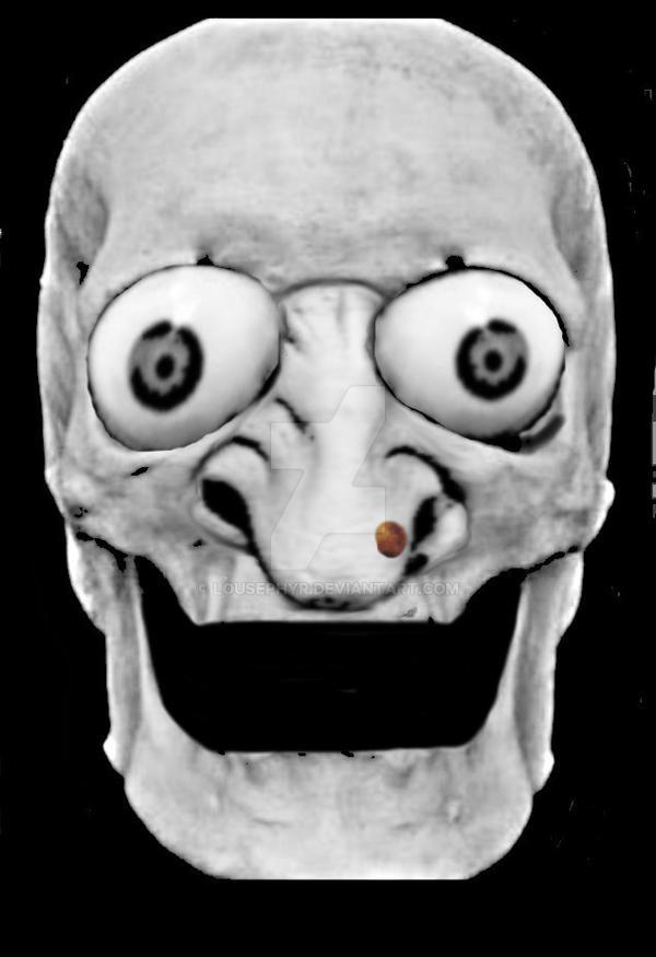 Hell-o-ween skull w.i.p. by lousephyr