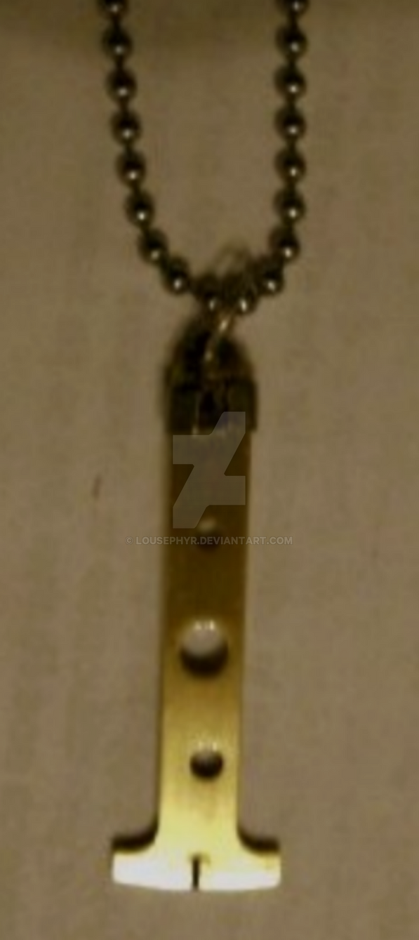 Brass.Rotor. Blade necklace by lousephyr