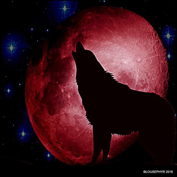 Howlin @ blood Moon by lousephyr