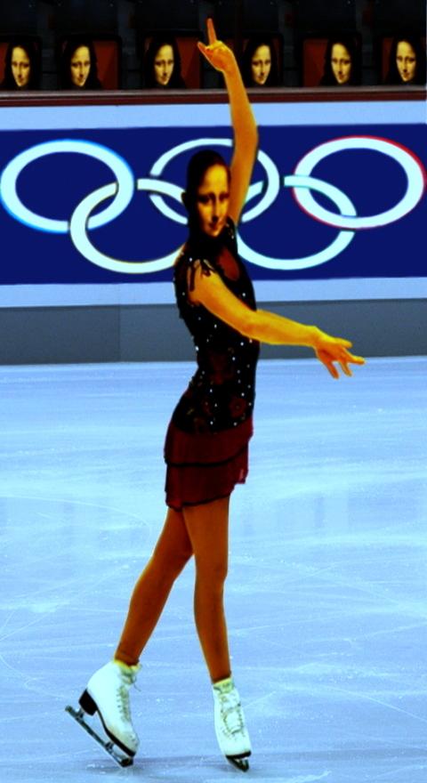 Olympic Mona lisa  ... parody by lousephyr