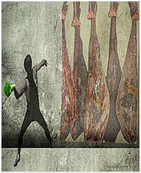 Broccoli Thrower..v1..Banksy parody