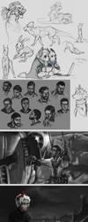 Sketch dump/ human practice by Felix-Vulpes