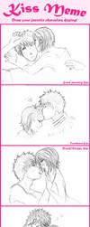 IchiRuki Kiss meme by Lendra-chan