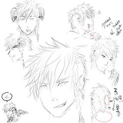 Kai doodles by Lendra-chan