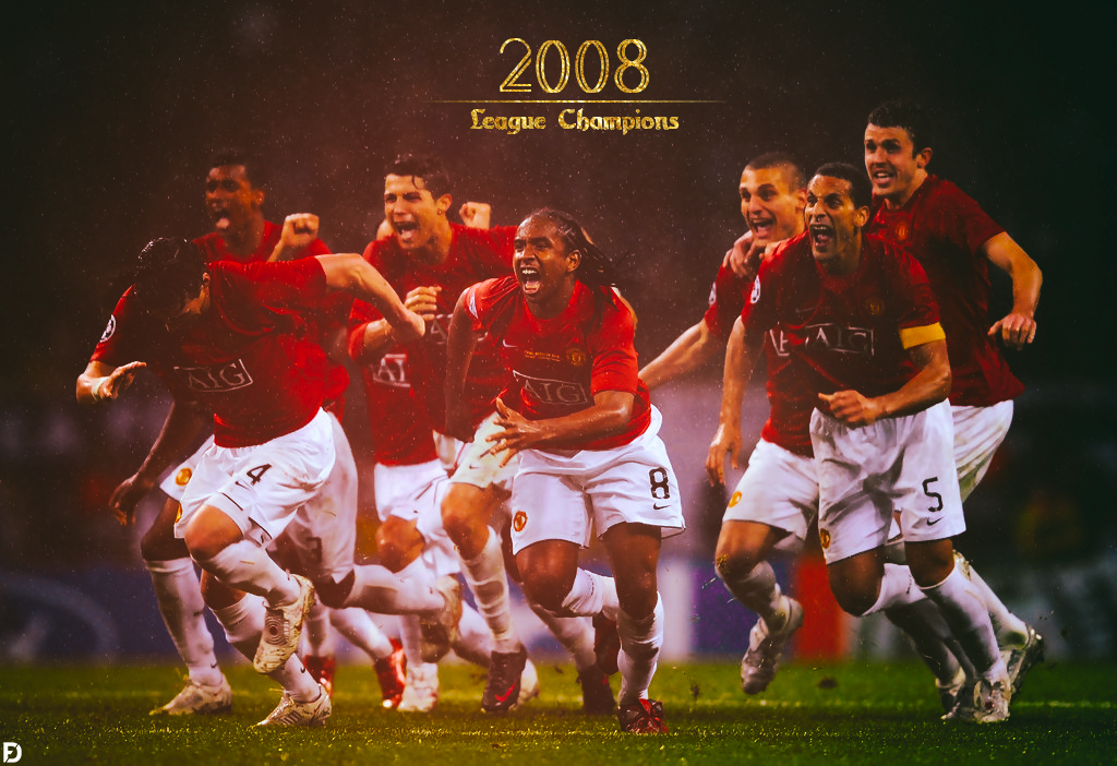 Manchester United Champions League Moscow 2008 By