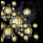 Lanterns in the Eagle Nebula by quartertime