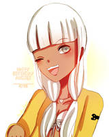 (COLORED SKETCH) HAPPY BIRTHDAY ANGIE by ArakiChan