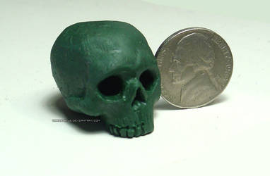 Tiny Human Skull by Chris-Blue