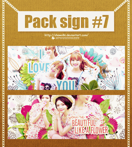 Pack sign #7 (Tell me if u want psd) by Shawolki