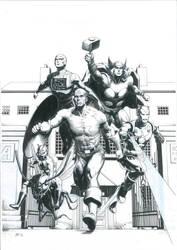 Avengers Commission Inks