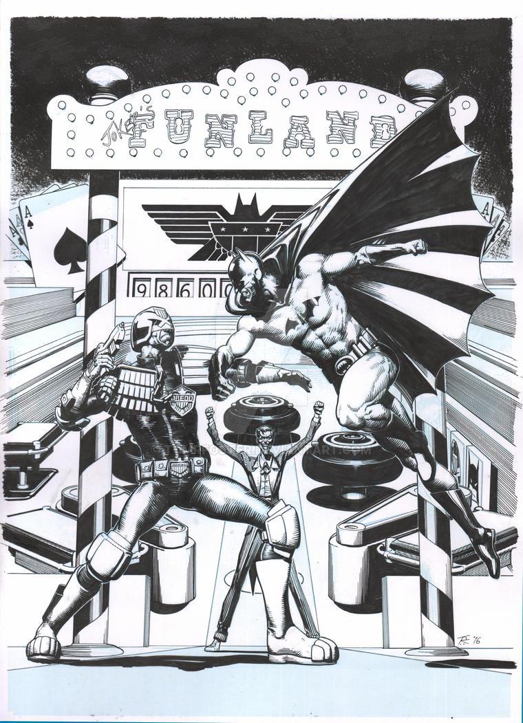 Dredd VS Batman by TomRFoster