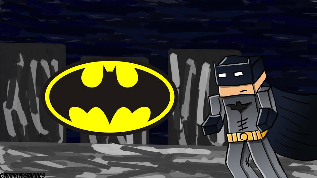 wallpaper craft batman: Batman-Minecraft-Wallpaper By OverdriveGraphics On DeviantArt
