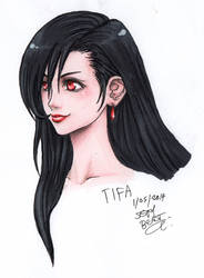Tifa - Copics and Pencils by Cloudy-0w0