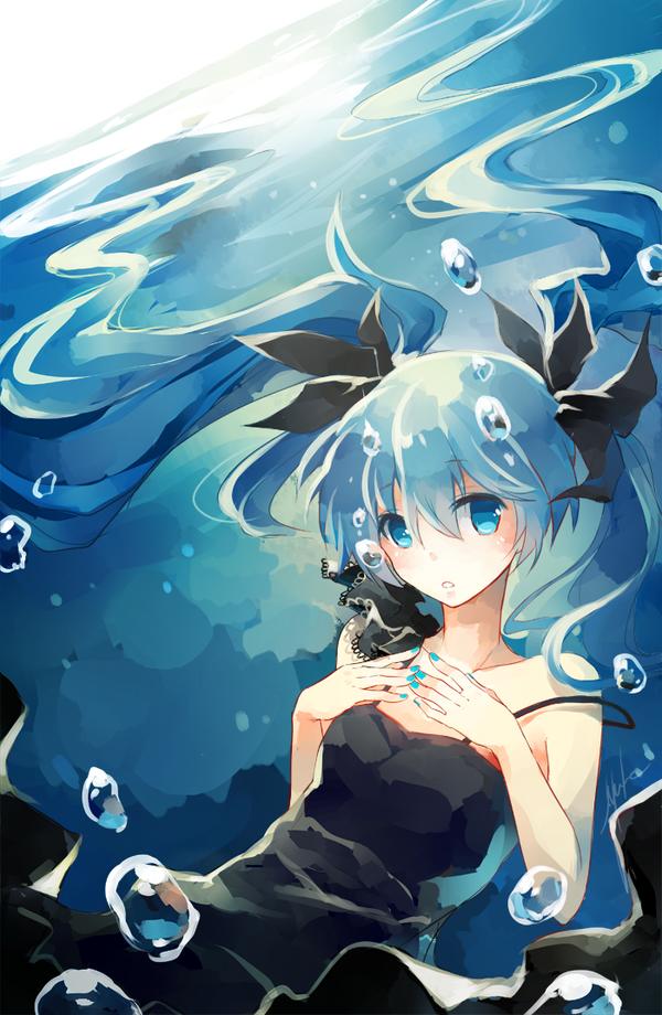 Deep Sea Miku by hai-do