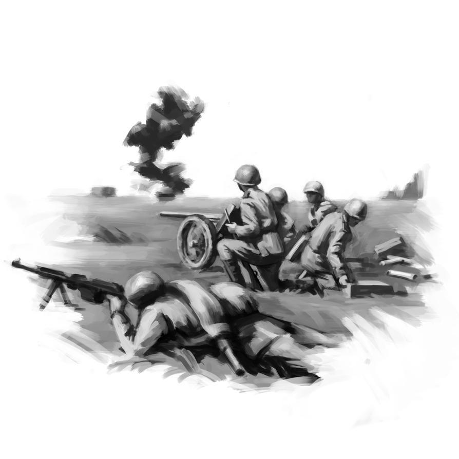 My first digital war drawing. by LeoV95