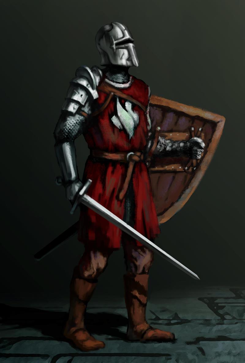 A random knight. by LeoV95