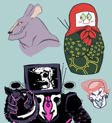 Smol Doodle Sheet 09.26.2016 by BlitzwingKisses