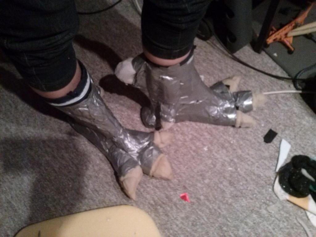 Warlock golem feet's third by Silver-Blaze-4-ever