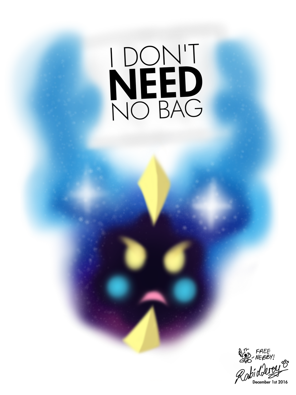 Nebby Needs No Bag by RabidLeroy