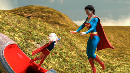 Clara Kent Finds Little Kara Her Rocketship by kclcmdr