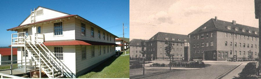 American German Army Naval WW2 Barracks
