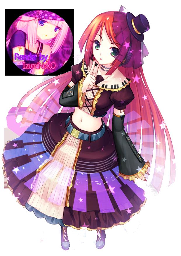 Anime Purple Cat