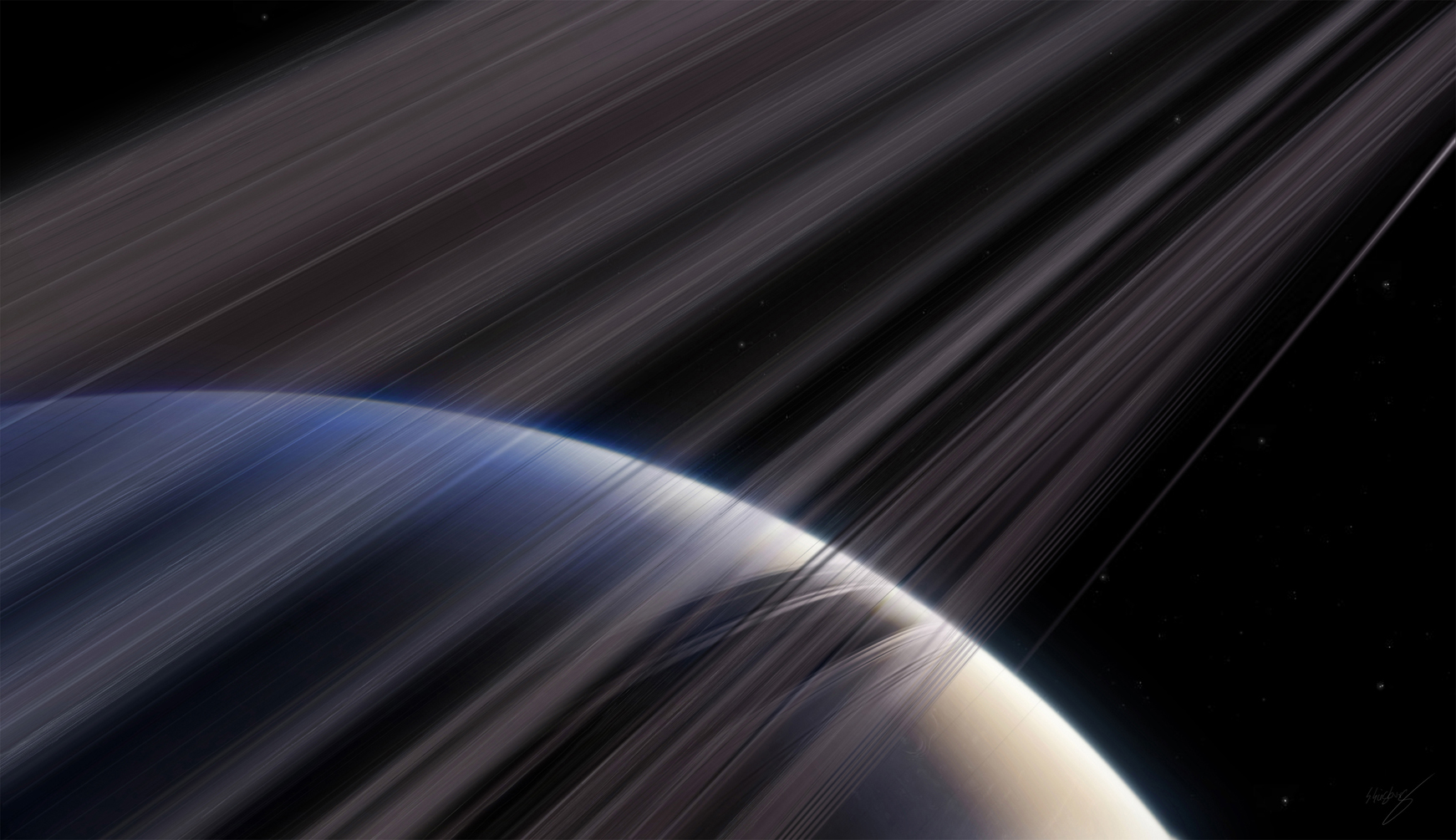 Rings of Saturn by Baro