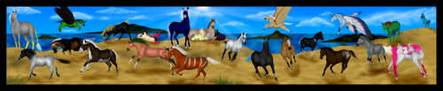 An Equine Menagerie by Malcassairo