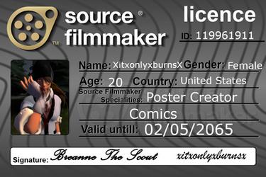 SFM license! by xitxonlyxburnsx