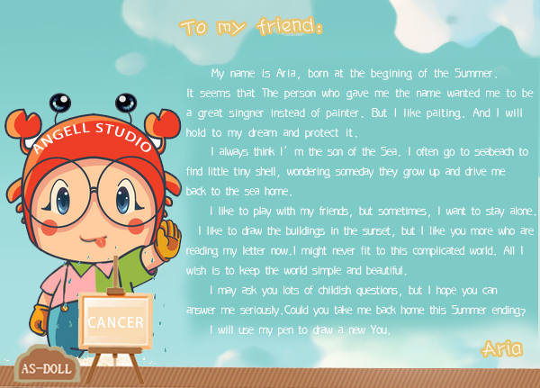 One letter from Aria by Angell-studio