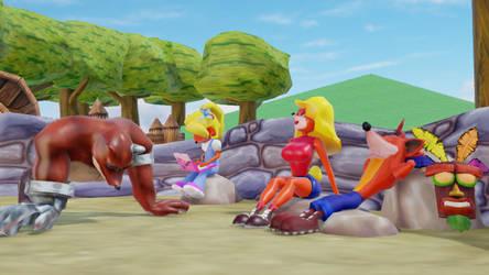 (MMD) Bandicoots Outside by Hyper-Mario-64