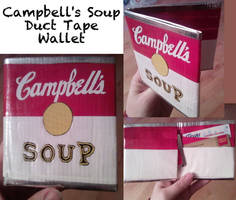 All Duct Tape Soup Wallet by thejenty