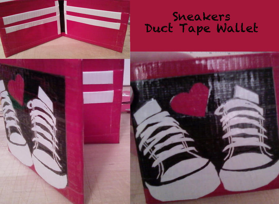 Sneakers Duct Tape Wallet by thejenty