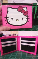 Duct Tape Wallet- Hello Kitty by thejenty