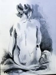 Ink Figure Drawing (Shaun) Back