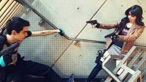 Fem!Jason Todd VS Agent Grayson Cosplay