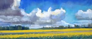 landscape, pastel