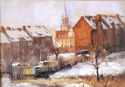 Silesian city, pastel