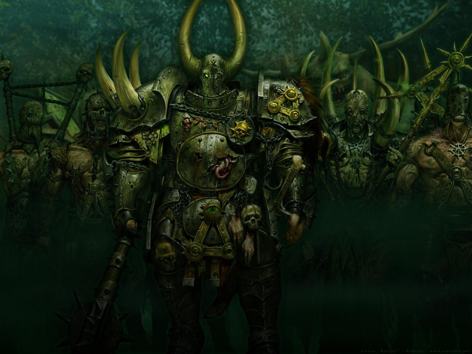 Warhammer Online Chaos Nurgle Wallpaper By David Mills On Deviantart