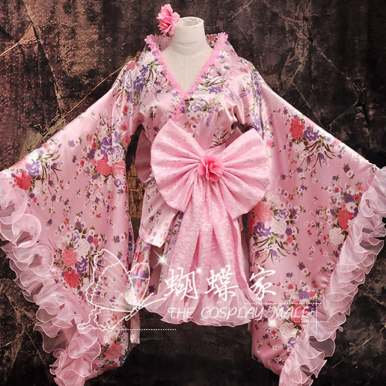 Maid Outfit Lolita Kimono Pink Cosplay Costumes By YayaHancosplay1 On DeviantArt