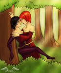 Dana and Leliana in the forest