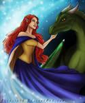 ArtTrade Callista and Dragon