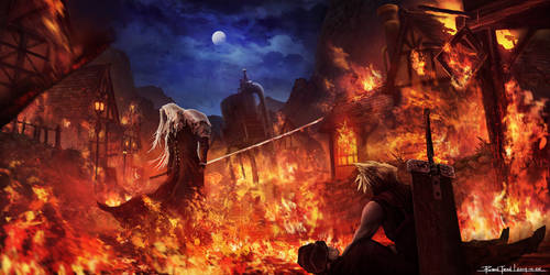 Final Fantasy VII - Sephiroth in Flames