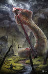 Final Fantasy VII - The impaled Midgar Zolom