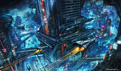 Scifi Night City