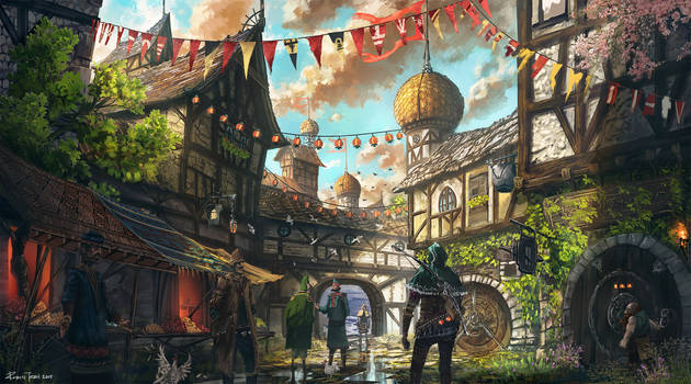 Medieval Town by RobinTran