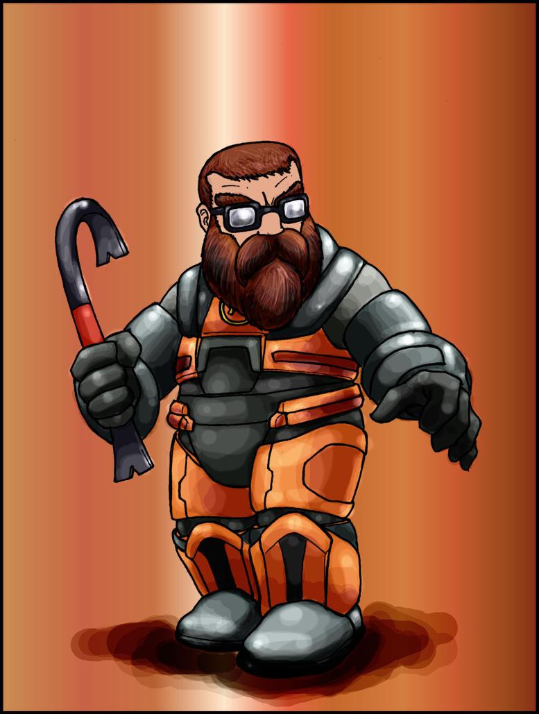 Dwarfy Gordon Freeman by MarkDobson